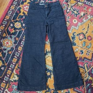 Wrangler for Modcloth high rise wide leg jeans EUC